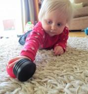 Cate Hannah crawling