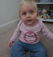 Hannah sitting up Cate